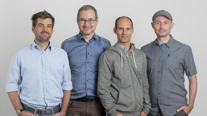 Vier junge Männer