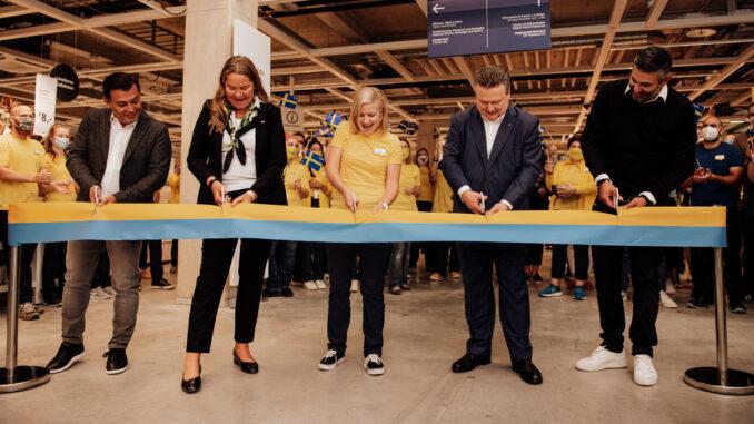 Banddurchschneiden beim Ikea Wien Westbahnhof